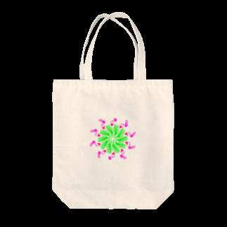 Miracke Happy Bareのバード Tote bags
