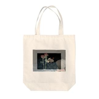 cigarette/rose Tote bags