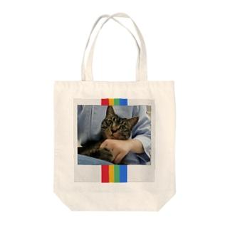 盛れ猫チェキ風ver. Tote bags