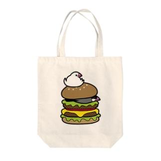 ぶんちょうバーガー Tote bags