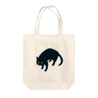 黒猫さん Tote bags