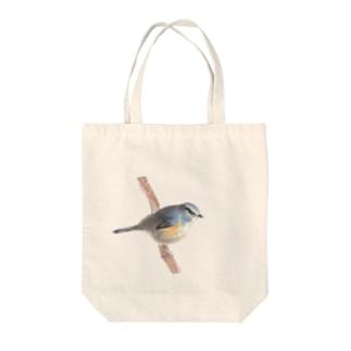 ルリビタキ Tote bags