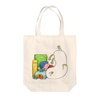 とり in バッグ Tote bags