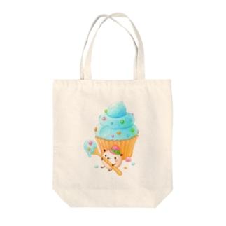 ポコポコカップケーキ Tote bags