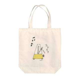 """メトロノーム""""カチカチ"""" Tote bags"""