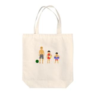 夏のじいちゃんと孫 Tote bags