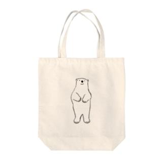 直立ホッキョクグマ Tote bags