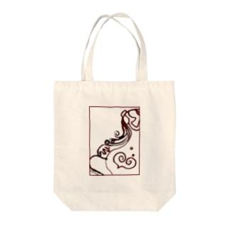 家族シリーズ「ニンプ」 Tote bags