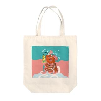 跳ね金魚(背景カラー) Tote bags