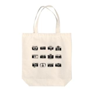 12camera(黒) Tote bags