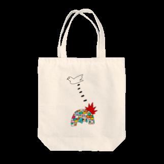花くまゆうさくのBOMB & PEACE Tote bags
