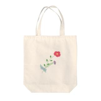 お花を身につけて Tote bags