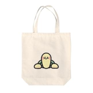 ちょっぴりカメちゃん Tote bags