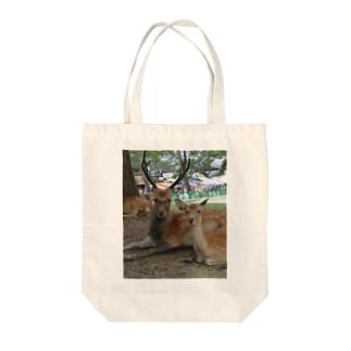 夫婦鹿 Tote bags