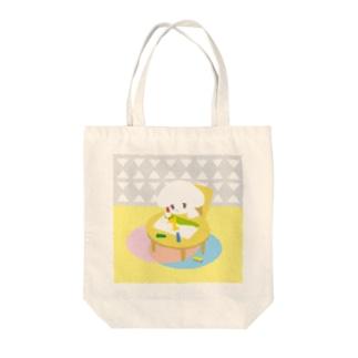 こいぬちゃん(おえかき) Tote bags