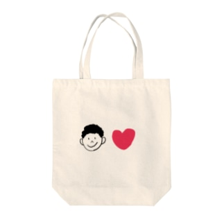 Boy and Love Tote bags