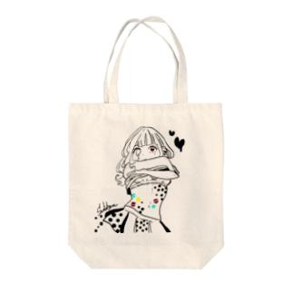 タピオカガール Tote bags