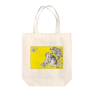 Retro Design Letter Tote bags