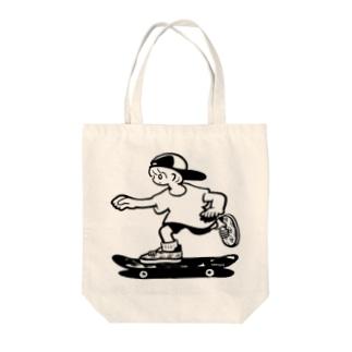 シロメスケーティング Tote bags