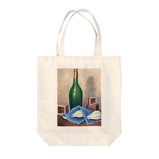 グリーンボトル Tote bags