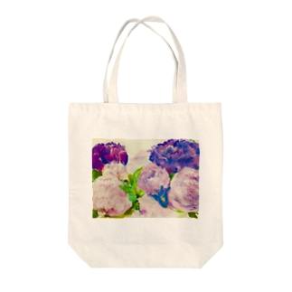 peony bouquet Tote bags