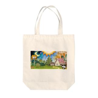 森のくらし Tote bags