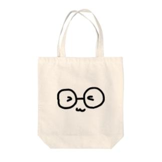 メガネまんじゅう(いつもニコニコ) Tote bags