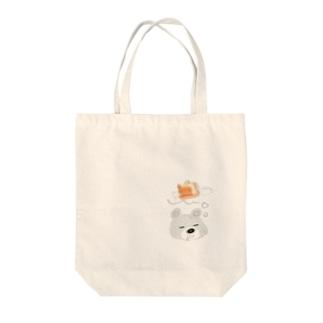 YOSHIKO KUGAの甘党くま Tote bags