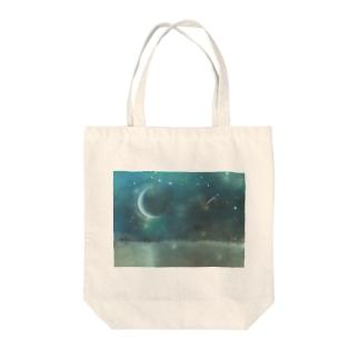 Crescent moon festival Tote bags