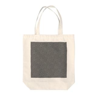 Polka Dots(Black Gingham) Tote bags