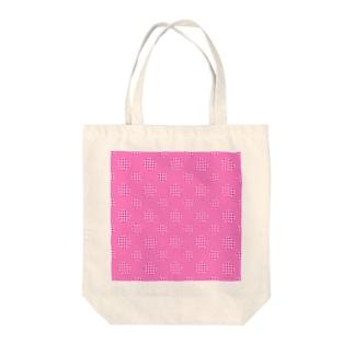Polka Dots(Pink Gingham) Tote bags