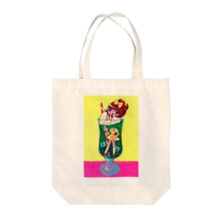 生首チェリーのクリームソーダ Tote bags