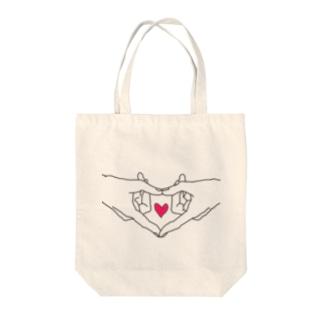 あなたが作るハート Tote bags