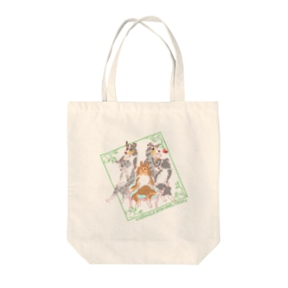 Miracle spin Shelties! side F Tote bags