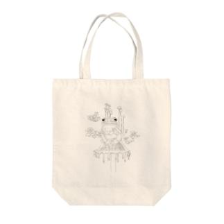 キノカエルさんの共生 Tote bags