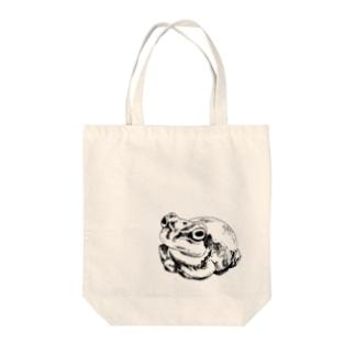 かえるさん Tote bags