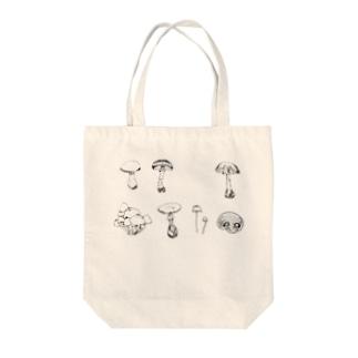 きのこ Tote bags