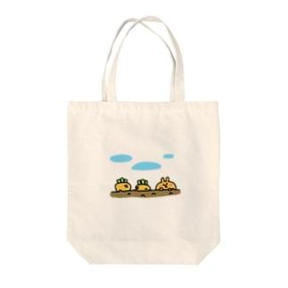 キャロット&ラビット Tote bags