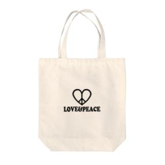 ラブ&ピース Tote Bag
