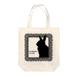 No Rabbits, No Life Tote bags