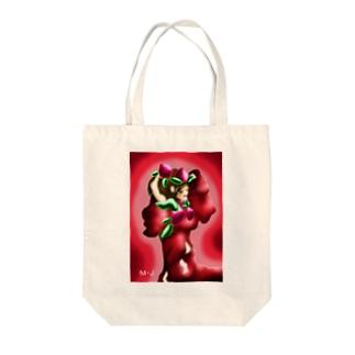 桃のおじょうちゃん Tote bags