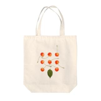 さくらんぼ Tote bags