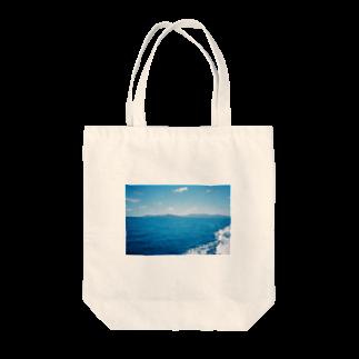 檸檬のblue Tote bags