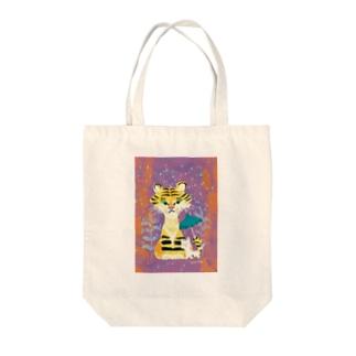 tiger & cat Tote bags