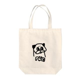 Nicopain_pugのお●む風のパグ Tote bags