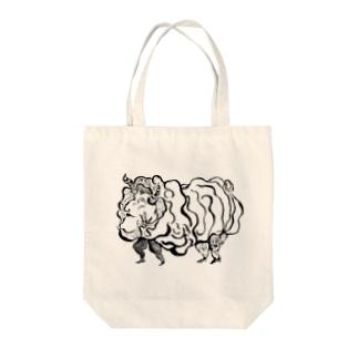 P-SUKE☆STOREのマトンちゃん Tote bags