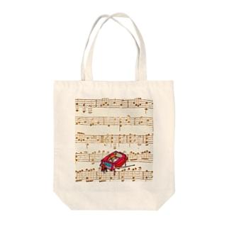 ピアノ調律師 Tote bags