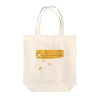 オハデザインのとうもろこし Tote bags
