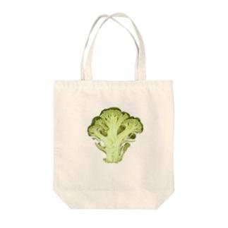 ブロッコリーの断面 Tote bags