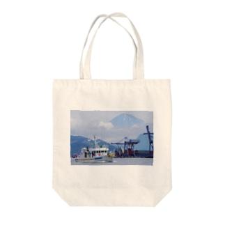 かざはや君と富士山 Tote bags